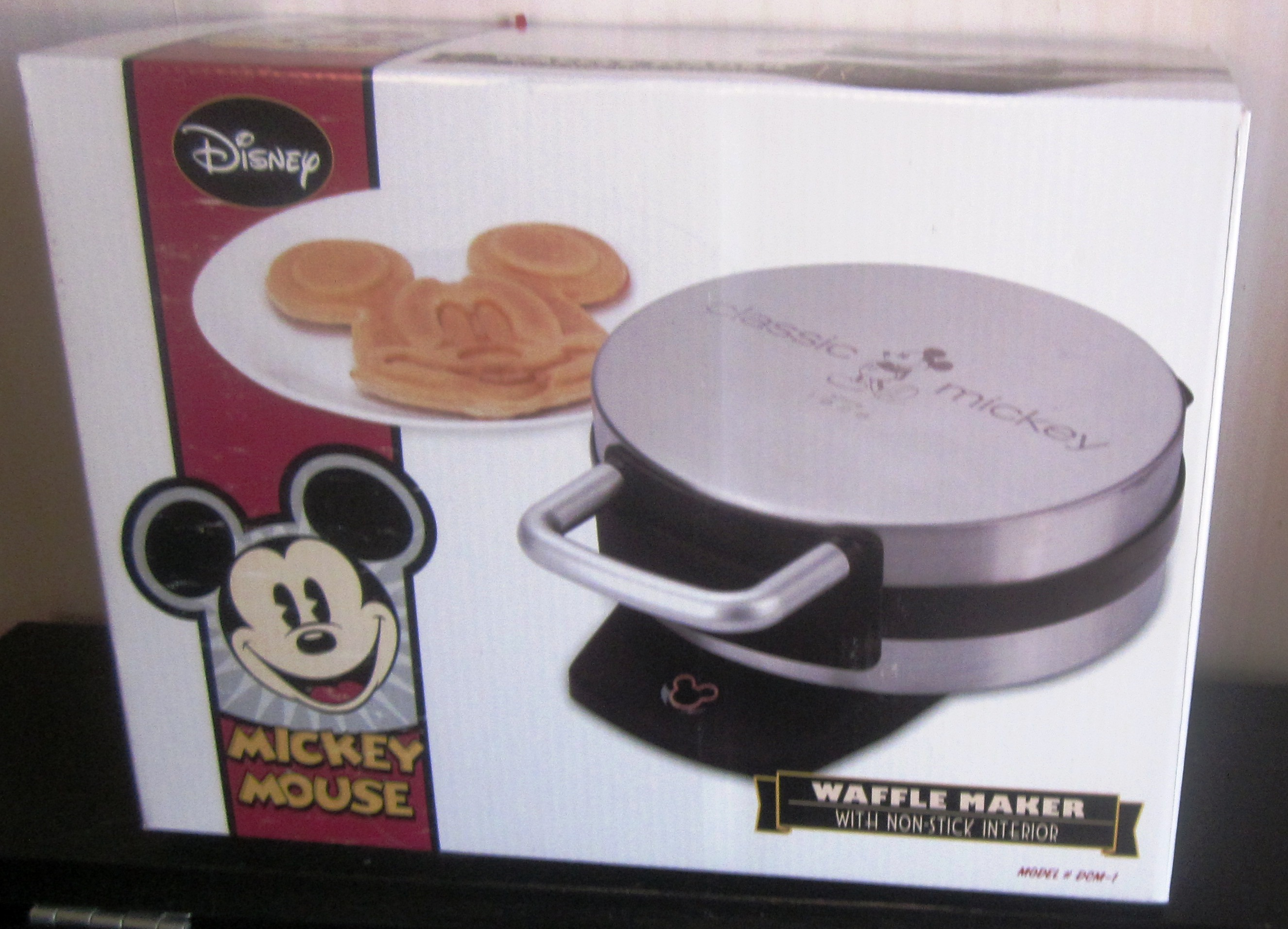 Disney Mickey Mouse Non Stick Waffle Maker