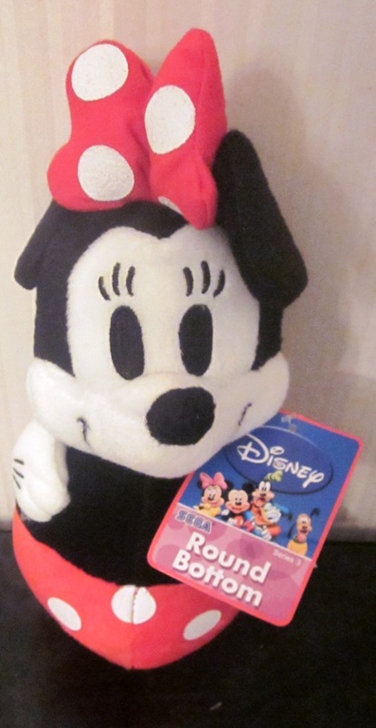 Disney Sega Series 3 Plush Stuffed Minnie Mouse Round Bottom