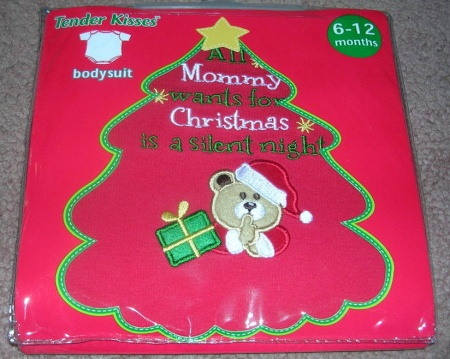 Onepiece Bodysuit Creeper Mommy wants Silent Night 6 - 12 Months