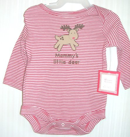 Holiday Creeper Onepiece Long Sleeve Mommy's Little Deer 0-3 M