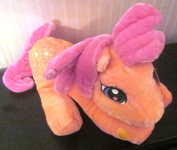Plush Stuffed My Little Pony Sparkleworks Nanco Peach