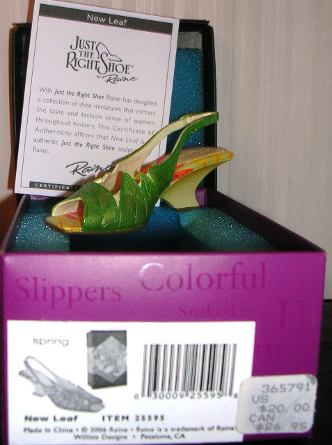 Just The Right Shoe by Raine New Leaf 25595 JTRS