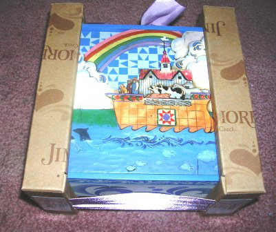 Jim Shore Heartwood Creek Noah's Ark Covered Box 4012114FD