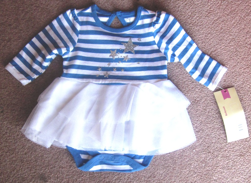 Bodysuit Tutu Stars Blue Striped Cherokee Newborn NB