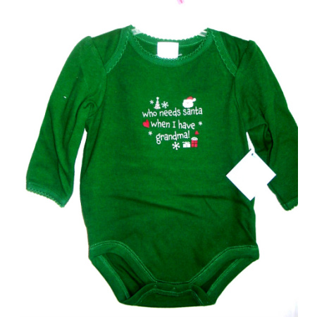Christmas Long Sleeve Onepiece Creeper Layetter 0 3 Months