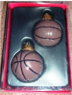 Christmas Sports Ball Ornament Basketball