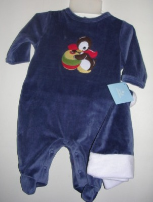 Penguin Outfit Sleeper w/ Hat 0-3 months