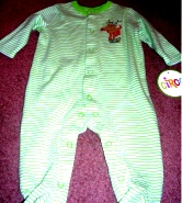 Circo Sleep and Play Layette Outfit Santa's Helper 3M