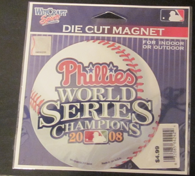 Phillies World Series Champions Champs 2008 Ball Magnet