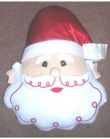 Santa Face Shaped Pillow