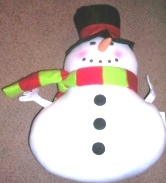 Snowman Shaped Pillow
