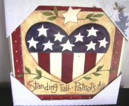Fourth 4th of July Patriotic Heart Wall Hanging Plaque Wooden