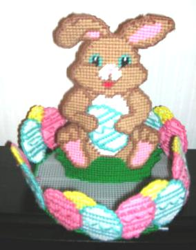 Easter Bunny Centerpiece Egg Holder Plastic Canvas