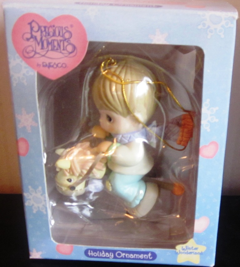 Precious Moments Enesco Ornament Boy Riding Stick Horse