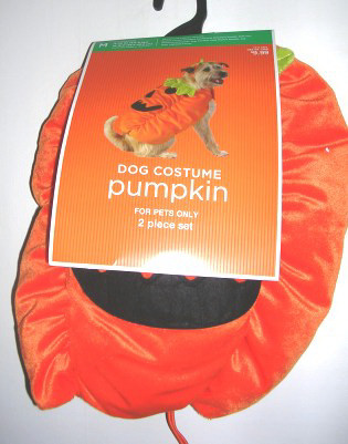Dog Pet Costume Pumpkin Outfit Large