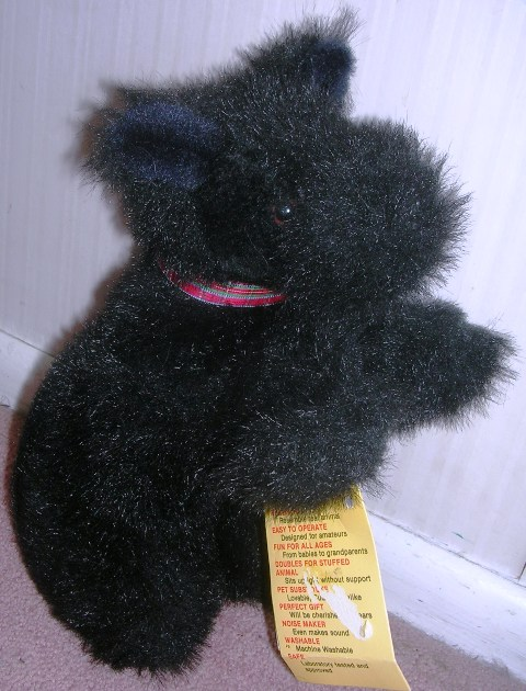 Country Critter Puppet Black Puppy