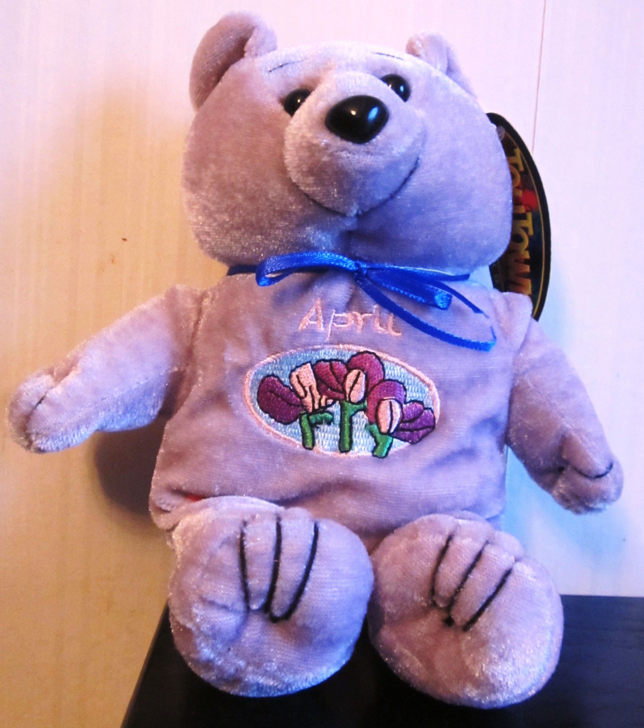 Plush Stuffed Purple Bear April