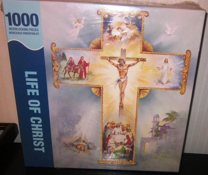 Springbok Life Of Christ 1000 Piece Puzzle Interlocking Cross
