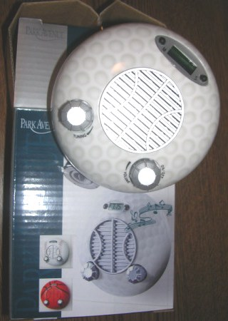 Shower Clock Radio Sports Ball Golf ball