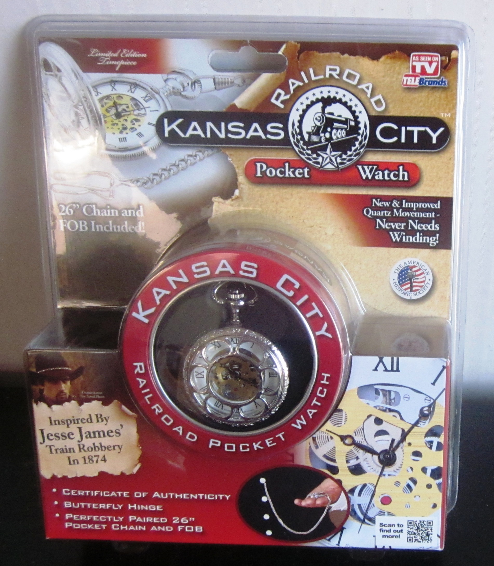 Kansas City Railroad Poceket Watch Limited Edition As Seen On TV