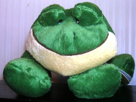 Skm Stuffed Plush Rattle Frog #88118