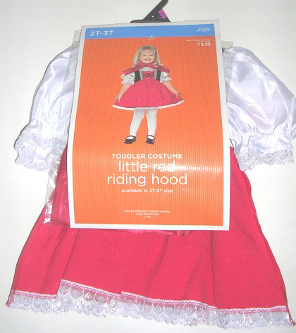 Little Red Riding Hood Toddler Costume 2T-3T