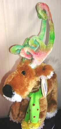 Christmas Plush Stuffed Reindeer by SKM