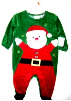 Christmas Outfit One Piece Romper Layette Santa