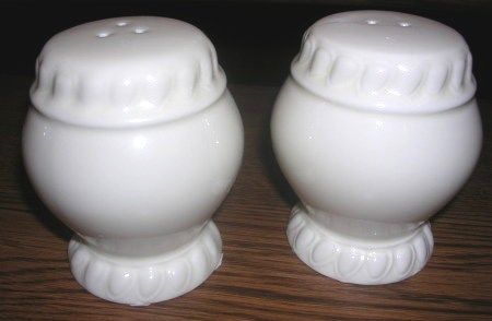 Salt and Pepper Shakers White