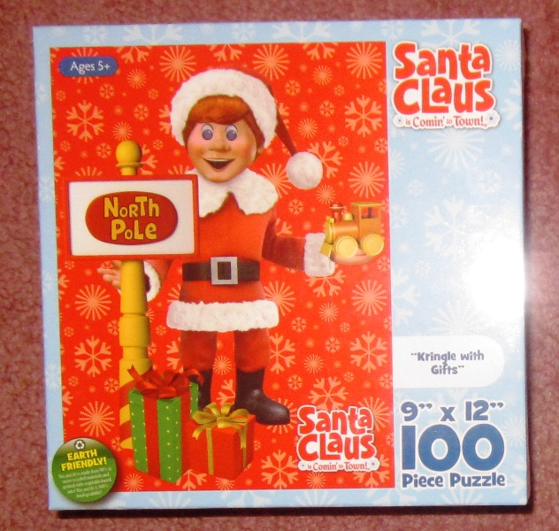 Santa Claus Is Comin To Town 100 Piece Puzzle Kringle and Gifts