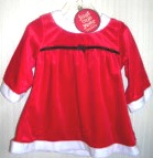 Christmas Carter's Just One Year Santa Dress 3-6 months