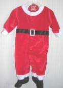 Santa Suit Carter's Just One Year 1 Piece 3-6 Months