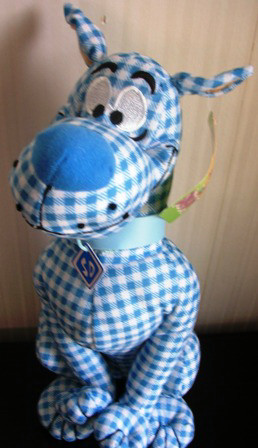 Scooby Doo Stuffed Plush Blue Checkered 13""