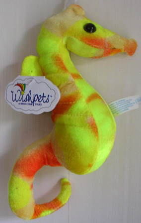 Wishpets Plush Stuffed Yellow Tie Dye Seahorse