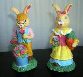 Easter Bunny Set of 2 Boy and Girl Bunny