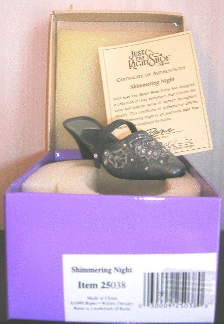 Just the Right Shoe by Raine Shimmering Night 25038 JTRS