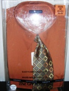 Knightsbridge Mens Dress Shirt and Tie Set Rust