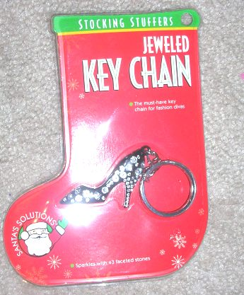 Jeweled Shoe Key Chain Stocking Stuffers Santa's Solutions
