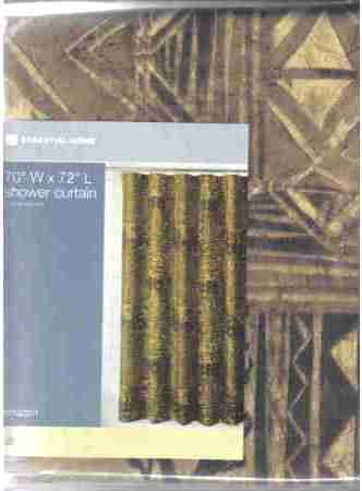 Shower Curtain Essentia Home Amazon Brown Black Fabric