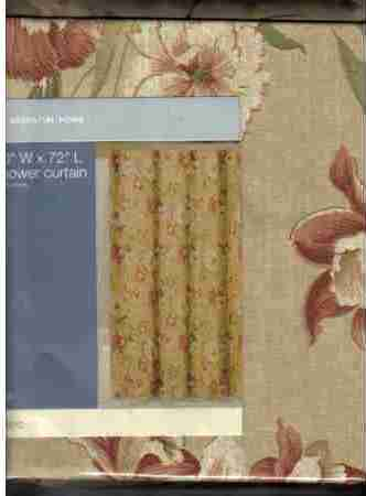 Shower Curtain Essential Home Ella Fabric Flowers