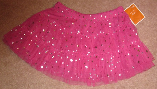 Pink Tulle Skirt with Stars Large 10/12