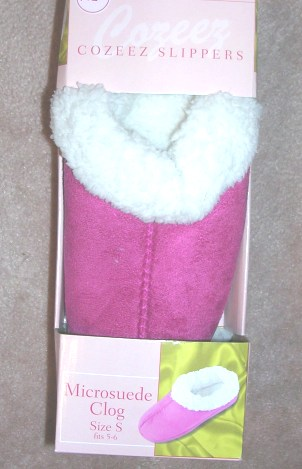 Microsuede Clog Women's Cozeez Slippers Pink Small 5-6