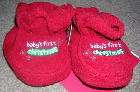 Carter's Just One Year Baby's First Christmas Slippers