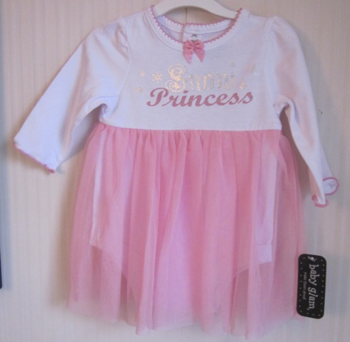 Baby Glam Snow Princess Skirted Creeper Tulle Skirt 3 Months