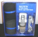 Mens Socks Book Light With Radio Gift Set