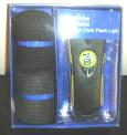 Mens Socks Projection Clock Flash Light Gift Set