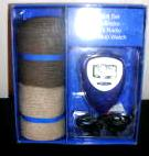 Mens Socks FM Mini Radio With Stop Watch Gift Set