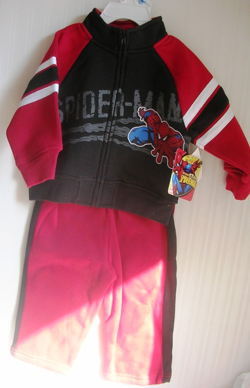 Spiderman 2 Piece Zipper Jacket and Pants Sweats 18m