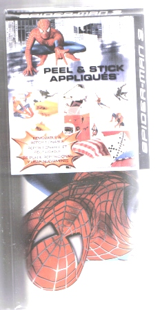 Spiderman 3 Wall Appliques Stickers Reusable