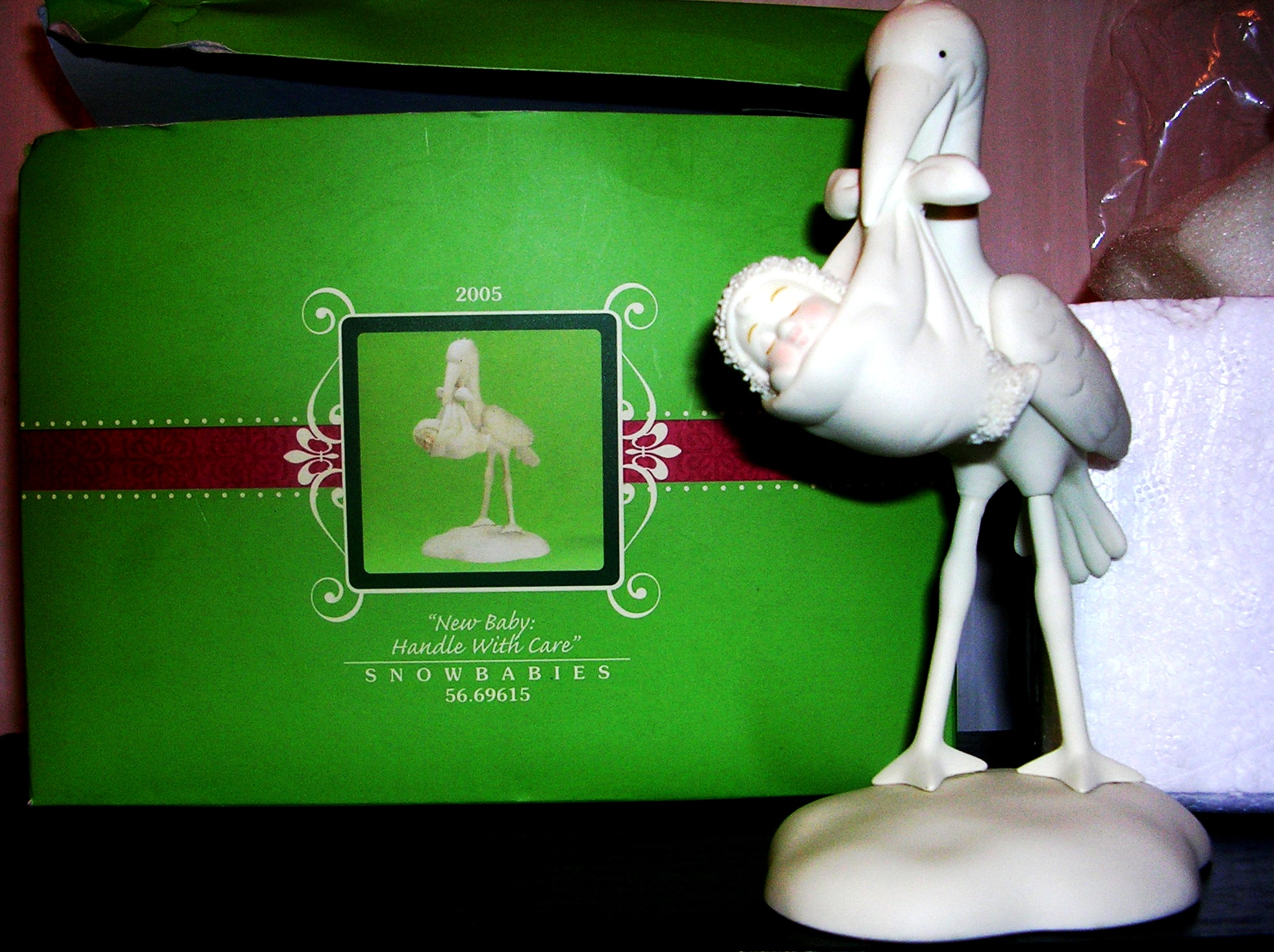 Snowbabies Dept 56 New Baby Handle With Care 2005